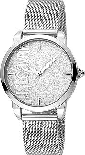 Just Cavalli Womens Quartz Watch, Analog Display and Stainless Steel Strap JC1L079M0075