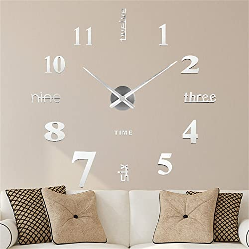 high quality Wall 2021 Decor Clock, 3D Mirror Wall Clock, Large Wall Clocks for Living Room Decor, Modern Wall Clock Decoration Wall Stickers for Living Room, Office, Home, Bedroom Wall lowest Decor outlet online sale