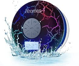 Hromen Bluetooth Speaker,2nd Gen IPX7 Waterproof Bluetooth Speakers, Bathroom Shower Speaker with FM Radio,wiereless Cool Cracking Backlit, Suction Cup,Outdoor Speaker, Good Gift