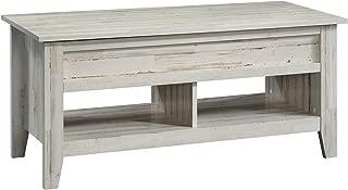 Sauder 424120 Dakota Pass Lift-Top Coffee Table, White Plank Finish