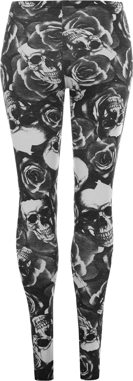 Women's Plus Size Skull Pirate Print Ladies Long Leggings
