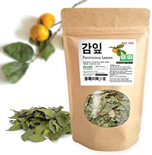 [Medicinal Korean Herb] Persimmon Leaves ( Shiziye / 감 나무 잎) Dried loose leaves 3oz ( 86g )