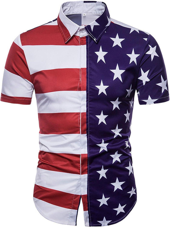 Men's Short-Sleeved Shirts Fashion Printing Slim New products, world's highest quality popular! Regular-fit 3D Regular store