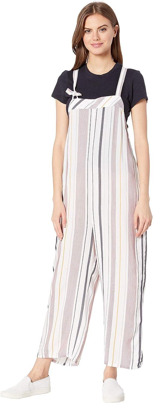 White/Berry Stripe