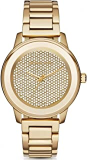 Michael Kors Kinley Women'S Pave Dial Stainless Steel Band Watch - Mk6209, Gold,