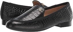 Black/Black Soft Mini Croc/Grosgrain
