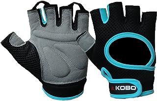 Kobo Unisex Fitness Leather Weight Lifting/Gym Gloves