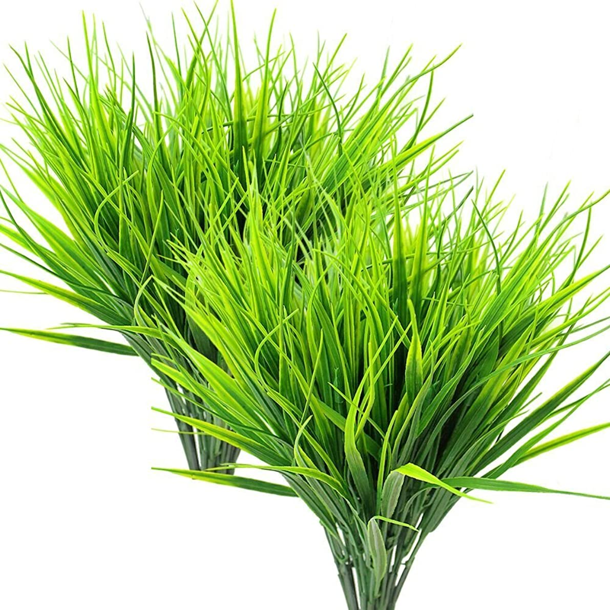 ZMOCEN 8 Pcs Artificial Outdoor Plants, Fake Plastic Greenery Shrubs Wheat Grass Outdoor Window Box Verandah Hanging Planter Indoor Outside Home Garde
