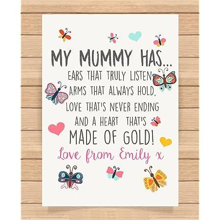 Personalised Mothers Day Print,Mum Present,StepMum,Nan,Gran Gift PRINT AT HOME
