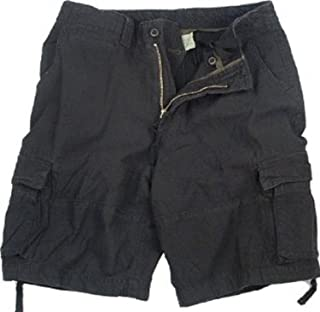 Black Infantry Vintage Military Cargo Utility Shorts