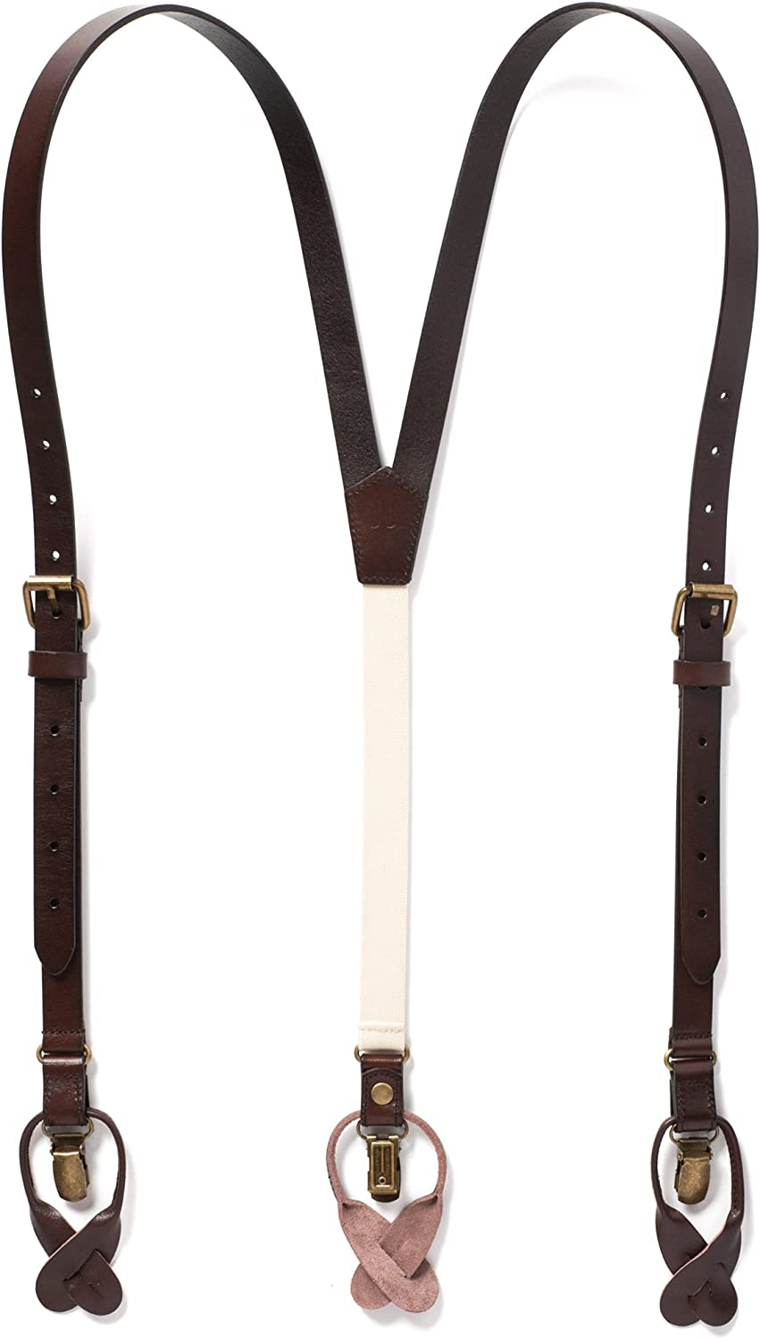 JJ SUSPENDERS Genuine Leather Suspenders For with St Inexpensive Men Elastic Brand Cheap Sale Venue