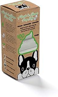 PetBro Flush `n Gone Poop Bag - 10 Rolls (100 Bags) - Biodegradable, Compostable, Flushable Poop Bags for Better Environment