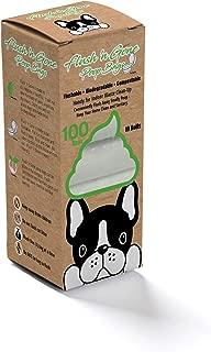 PetBro Flush 'n Gone Poop Bag - 10 Rolls (100 Bags) - Biodegradable, Compostable, Flushable Poop Bags for Better Environment