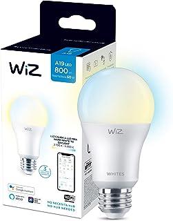 WiZ Foco A19 luz cálida a fría dimeable controlable por WiFi - Compatible con Alexa