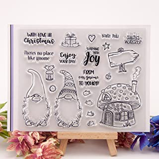 Shoresu Clear Stamps Sheets Transparent Silicone Seal for DIY Scrapbooking Photo Album Decorative 15×12.5cm/5.91×4.92in