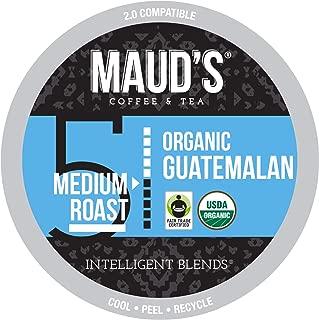 Maud's Organic Guatemalan Coffee (Medium Dark Roast), 24ct. Recyclable Single Serve Fair-Trade Organic Single Origin Coffee Pods