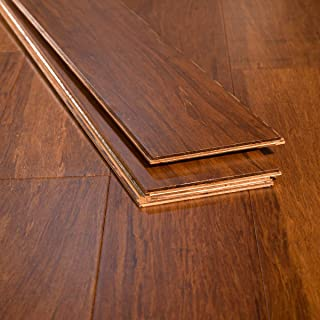 Ambient Bamboo - Bamboo Flooring Sample, Color: Carbonized 6 FT Lengths, Engineered Click Lock