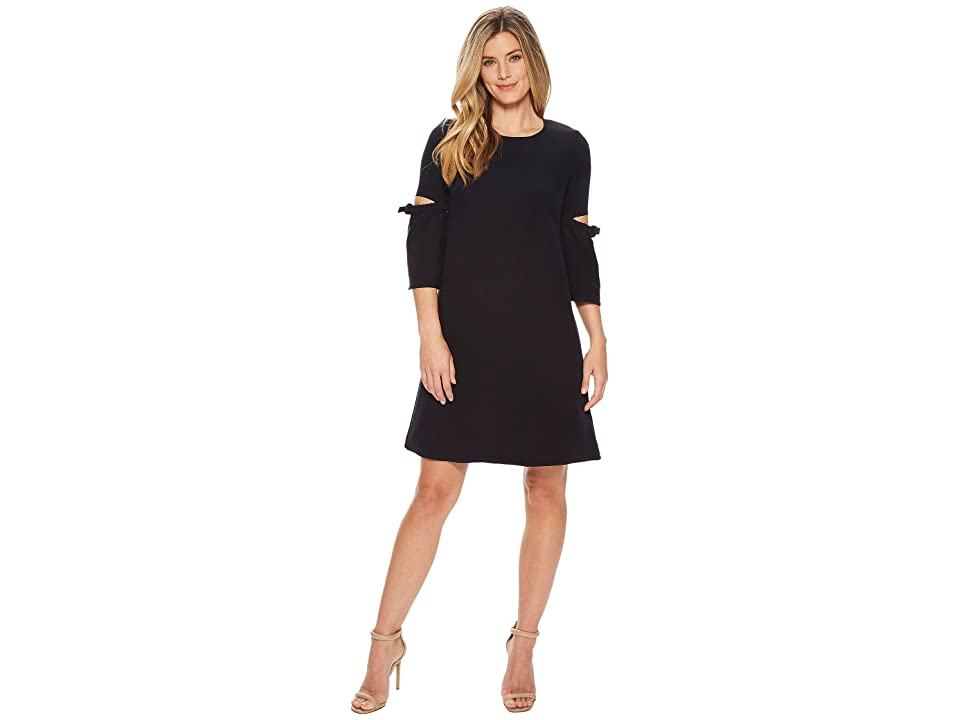 Ellen Tracy A Line Dress With Cut Out (Night Sky) Women