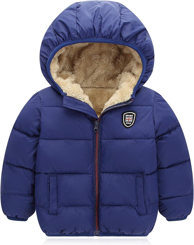 Filouda Baby Boys Branded goods Girls Beauty products Winter Jacket Cotton Down W Lined Fleece