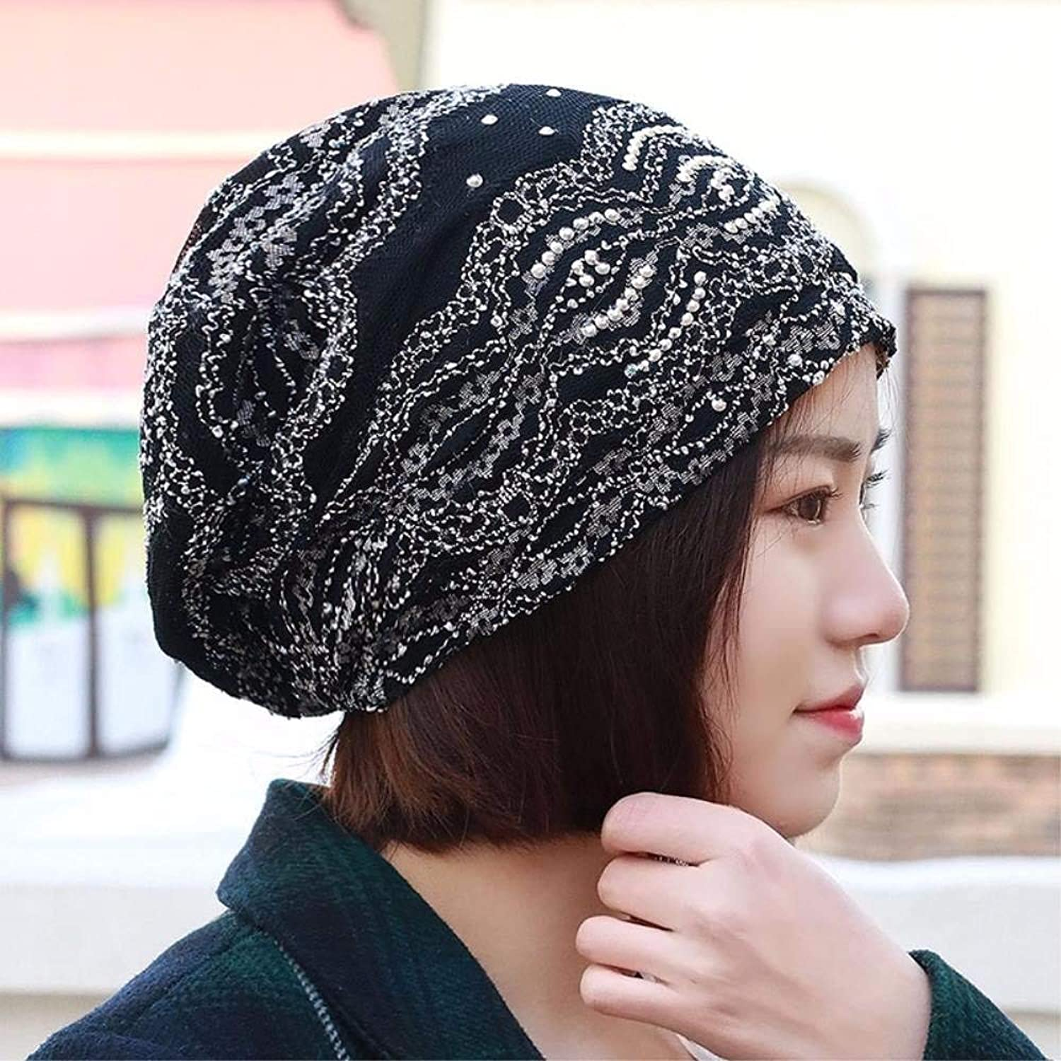 Dianye The girl hat ELASTIC LACE scarf hat set of head cap storehouse of women, pregnant women, the bald cap cap low