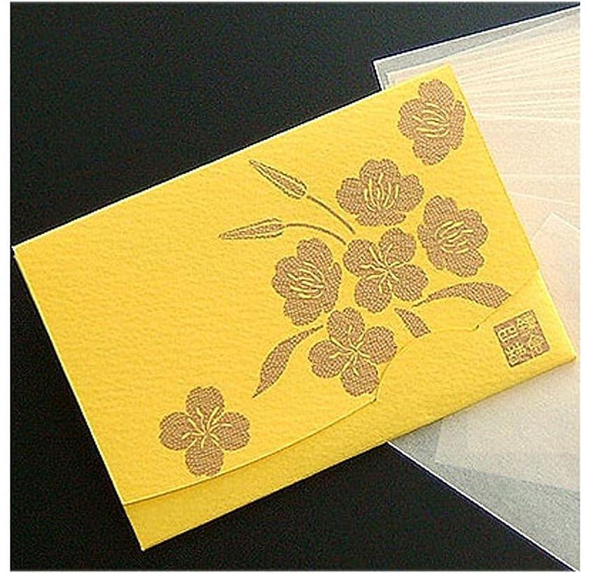 カードインスタント不条理季節の花 月見草(黄) 「絹すき」 短冊サイズ