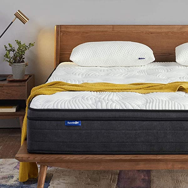 Sweetnight Queen Mattress In A Box 12 Inch Plush Pillow Top Hybrid Mattress Gel Memory Foam For Sleep Cool Motion Isolating Individually Wrapped Coils CertiPUR US Certified Queen Size