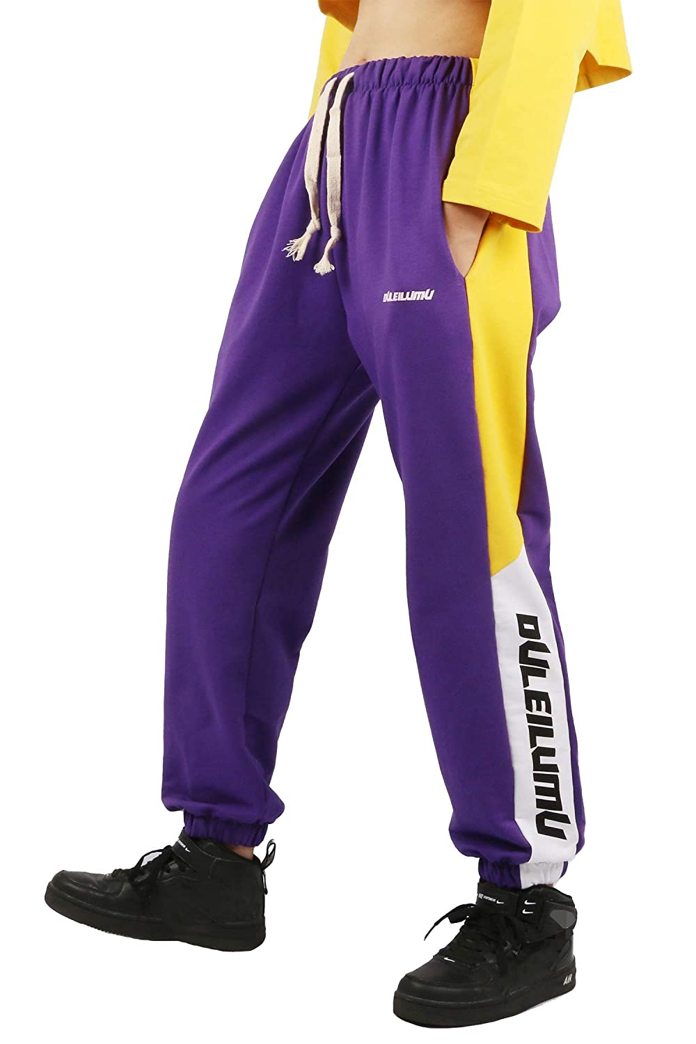 Rolanko Girls Jogger Trousers Drawstring Athletic Kids Sweatpants with Pocket for Boys Hip Hop Streetwear Trousers