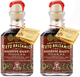 Giuseppe Giusti - Gran Deposito Aceto Balsamico Di Giuseppe Giusti Moderna - Italian Balsamic Wine Vinegar 8.45 fl.oz. (250ml) - Pack of 2