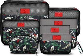 (7点セット) トラベルポーチ アレンジケース メッシュ バッグ 衣類収納ケース 整理整頓 小物入れ 旅行用 収納ポーチ