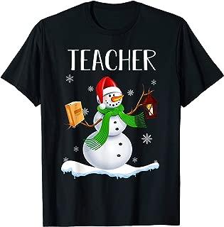 Christmas Santa Teacher Snowman Funny Gift For Teacher T-Shirt