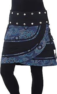 PUREWONDER Damen Wickelrock Minirock mit Tasche Rock sk181