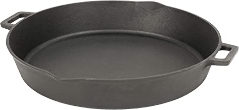 Bayou Classic 7439 Double Handled 7439-16-in Cast Iron Skillet, 16