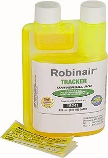 Robinair (16241) Tracker Universal A/C Fluorescent Dye - 8 oz. Bottle, 64 Applications