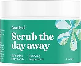ASUTRA Dead Sea Salt Body Scrub Exfoliator (Purifying Peppermint), 12 oz   Ultra Hydrating, Gentle, Moisturizing   All Natural & Organic Jojoba, Sweet Almond, Argan Oils