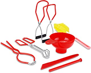 Trisop Canning Supplies Canning Kit, Include Canning Funnel, Jar Wrench, Canning Jar Lifter, Lid Lifter, Canning Tongs, Cl...
