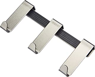 Tiger Gancho Rack Basic para el Panel de Ducha de Vidrio 6-8 mm, Acero Inoxidable Cepillado
