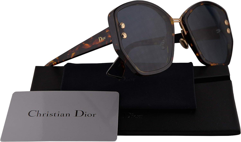 Christian Dior DiorAddict 2 Sunglasses Black w Green Lens 59mm 807O7 Dior Addict 2