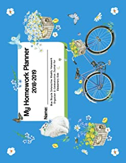 My Homework Planner 2018-2019: Blue Bicycle Interactive Weekly Homework Organizer   & Communication Journal for Elementary Kids (Peachy Keen Blank Books and Journals)