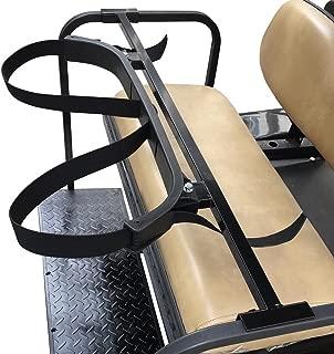 Snow Shop Everything Universal Golf Bag Holder Bracket Attachment Cart Rear Seat EZGO Club Car