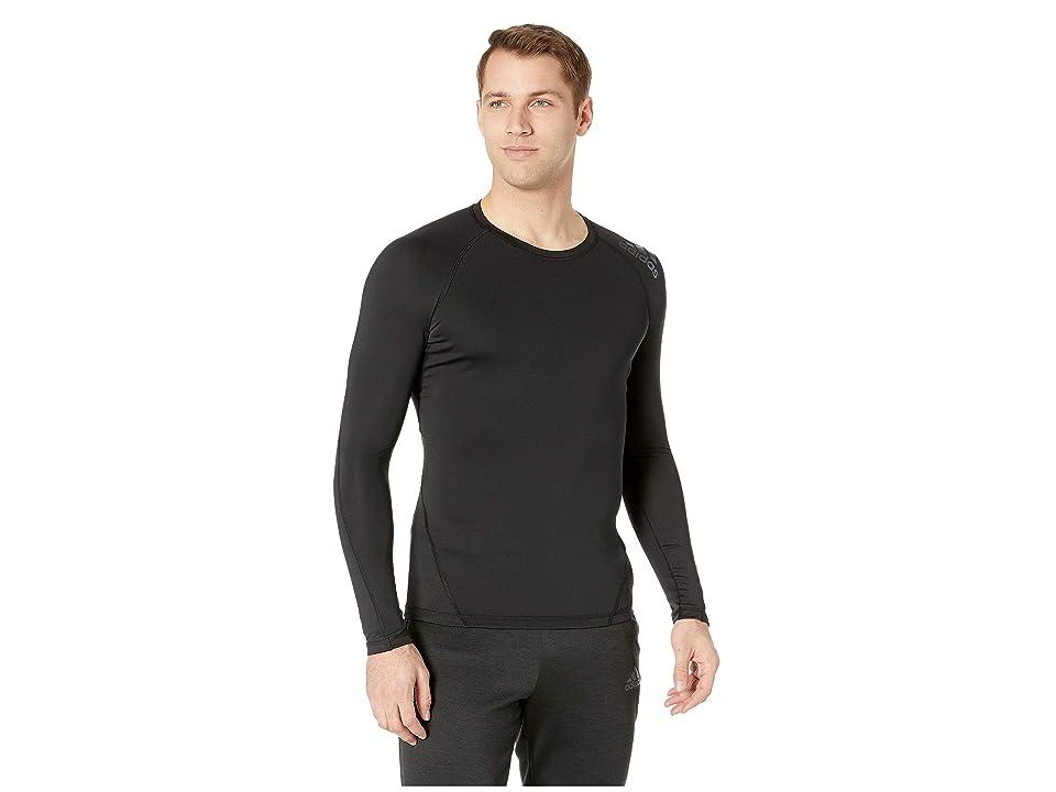 adidas Long Sleeve Alphaskin Sport Tee (Black) Men