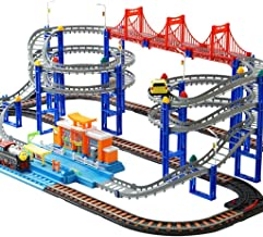 WWJ Slot Car Race Track Large Lift Fast Sprint Flexible Track Playset World Toy Train Set Tracks For Boys Girls Gifts ( Included For Car)