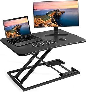 Chulovs Height Adjustable Standing Desk Converter, Sit to Stand Desk Riser, Stand Up Desk Riser, Ergonomic Home Office Com...