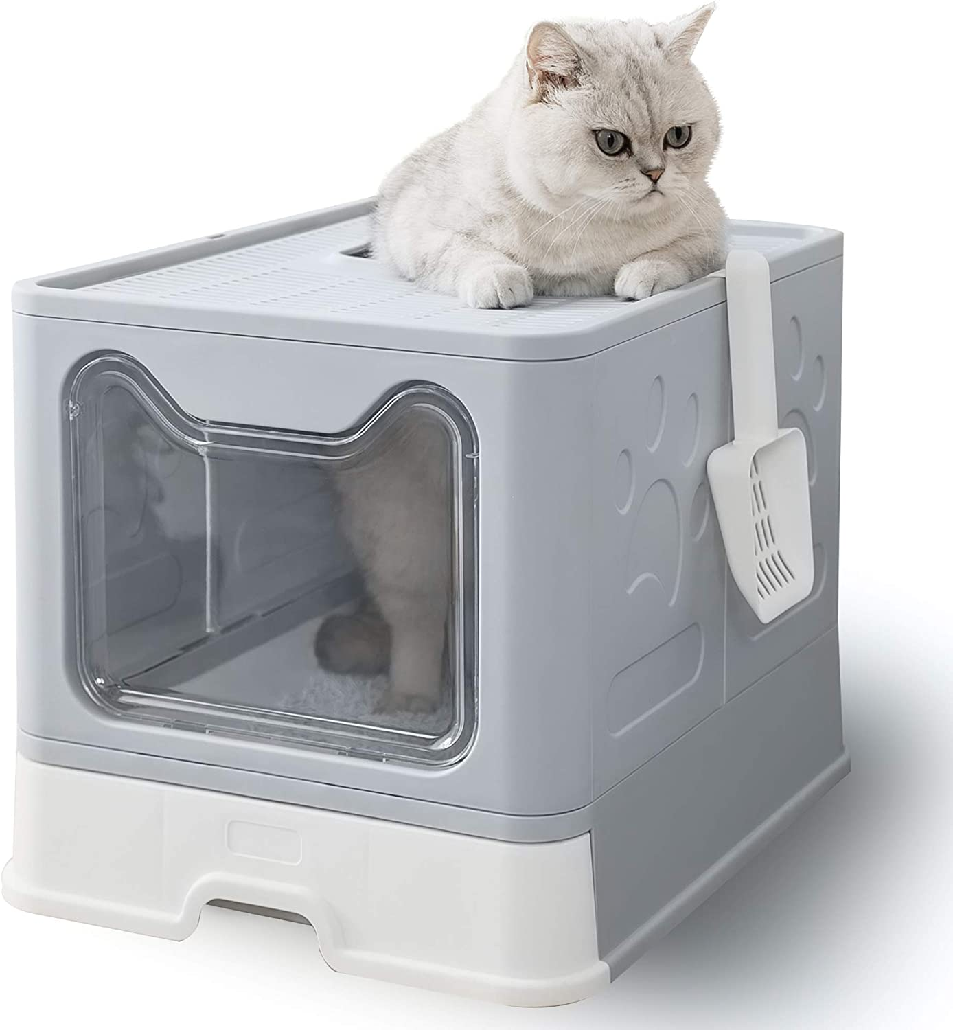 Dealing full Deluxe price reduction HIPIPET Cat Litter Box Foldable Entry Li with Top