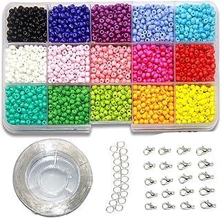 114/5000 Ewparts 3mm Mini Perles De Verre Bracelet Art Bricolage & Bijoux, Ensemble De Fabrication De Chaîne Perlée, Gratt...