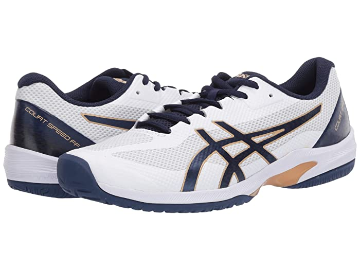 ASICS  Court Speed FF (White/Peacoat) Mens Tennis Shoes