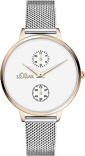 s.Oliver Time Damen Multi Zifferblatt Quarz Uhr mit Edelstahl Armband