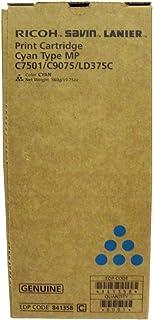Ricoh Genuine Brand Name, OEM 841358 Cyan Toner Cartridge (21.6K YLD) (560G)
