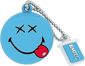 EMTEC Smiley World 8 GB USB 2.0 Flash Drive, Blue