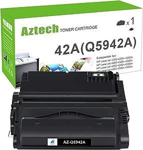 Aztech Compatible Toner Cartridge Replacement for HP 42A Q5942A 42X Q5942X Q1338A for HP Laserjet 4250 4200 4350 4300 4250N 4240 HP 4350N 4250TN 4250DTN 4350DTN 4350TN Printer (Black, 1-Pack)
