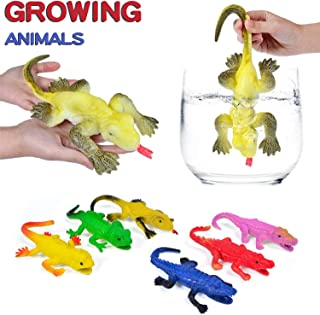 YAOJITOYS Water Growing Animals Kid Sensory Toy Assorted Sea Animals Expanding 6X Larger Amazing Crocodile and Lizard Toys 6 Pack